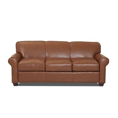 Jennifer Leather Sofa by Wayfair Custom Upholstery