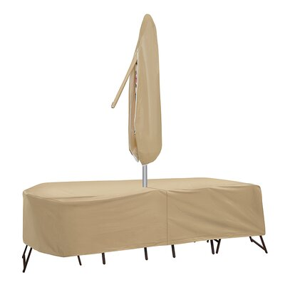 Patio Table Covers Rectangular With Umbrella Hole Image