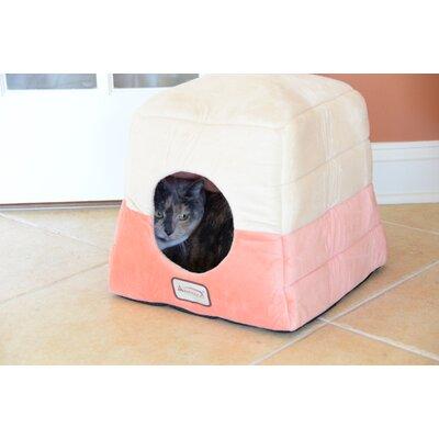 Armarkat Cat Bed in Orange and Beige
