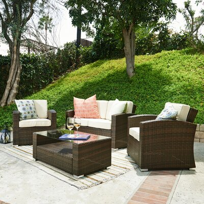 Bahia 4 Piece Deep Seating Group with Cushions by The-Hom