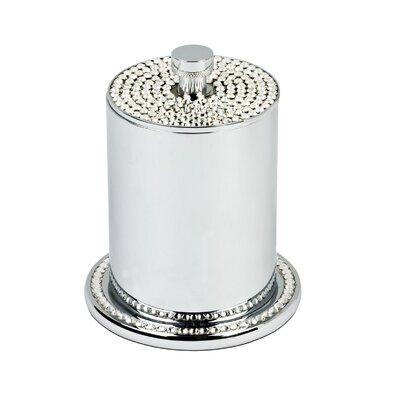 Topex Design Crystals Free Standing Cotton Swab / Cotton Jar