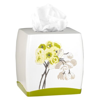 Canteen Flower Tissue Box Cover by Popular Bath Products