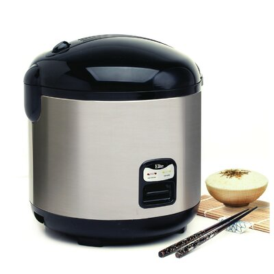 Platinum 20-Cup Stainless Steel Rice Cooker by Elite by Maxi-Matic