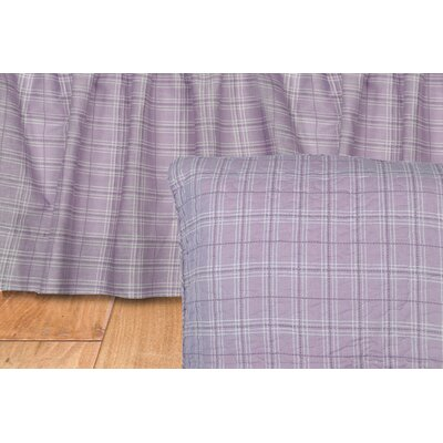 Lavender Rose Plaid Quilted Cotton Euro Sham by Donna Sharp
