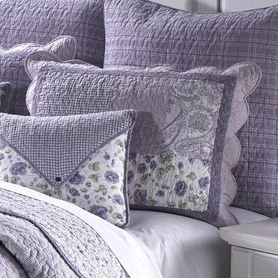Lavender Rose Cotton Standard Sham by Donna Sharp