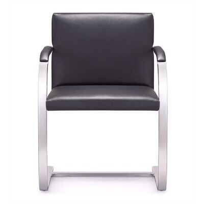 Arlo Mid-Back Leather Chair with Arms by Woodstock Marketing