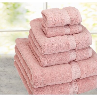 Cathay Home, Inc Luxe Pure Egyptian Cotton 6 Piece Towel Set