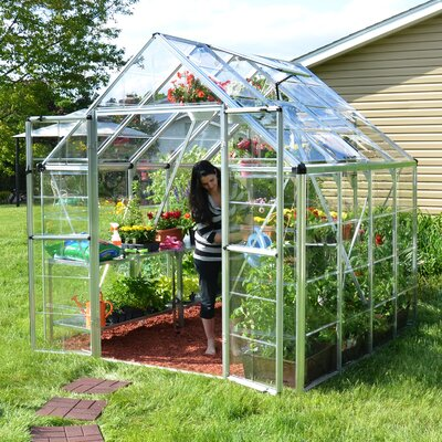 Snap and Grow 8 Ft. W x 8 Ft. D Polycarbonate Greenhouse by Palram