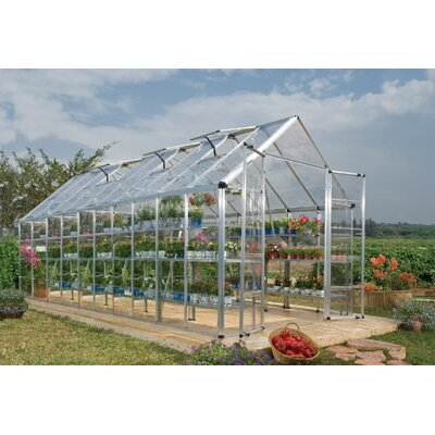 Snap and Grow 8 Ft. W x 20 Ft. D Polycarbonate Greenhouse by Palram