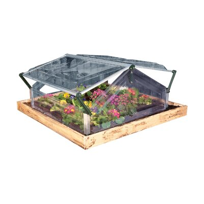 Double 3.5 Ft. W x 3.5 Ft. D Cold Frame Greenhouse by Palram