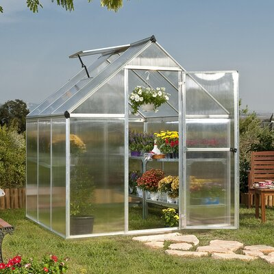 Palram Nature Twin Wall 6 Ft. W x 6 Ft. D Plastic Polycarbonate Greenhouse