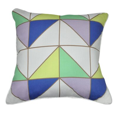 Geometric II Cotton Throw Pillow by Loom and Mill