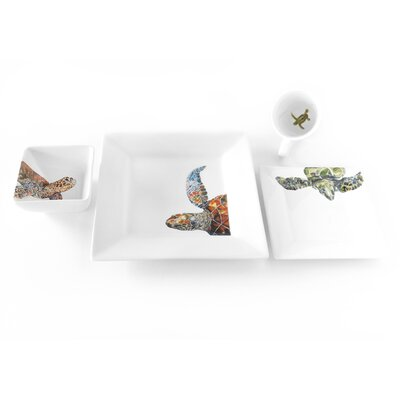 Out of the Blue Turtle 4 Piece Place Setting by Kim Rody Creations