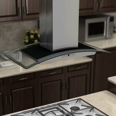 "36"" 760 CFM Island Range Hood in Brushed Product Photo"