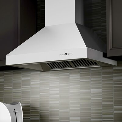 "36"" 1200 CFM Wall Mount Range Hood in Stainless Steel Product Photo"