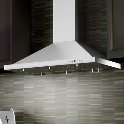 """42"""" 760 CFM Wall Mount Range Hood in Stainless Steel Product Photo"""