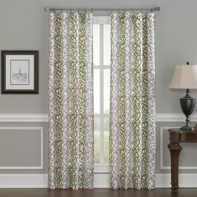 Damask Stripe Single Curtain Panel Product Photo