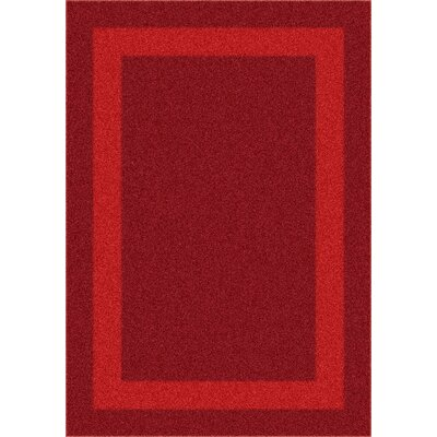 Modern Times Bailey Tapestry Red Area Rug by Milliken