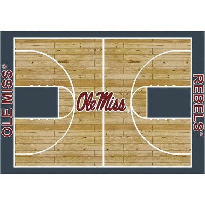 College Court Ole Miss Rebels Rug by Milliken