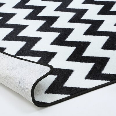 Milliken Vibe Techno Black/White Area Rug