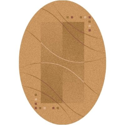 Pastiche Caliente Flaxen Contemporary Oval Rug by Milliken