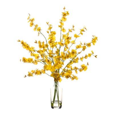 Oncidium inGlass Vase by Silk Flower Depot