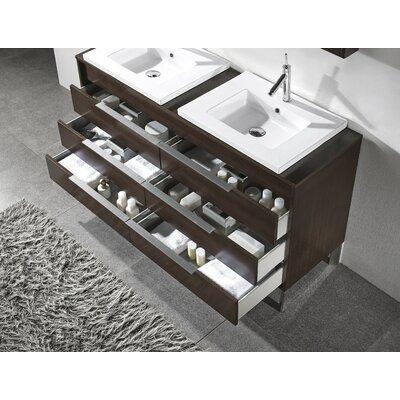 """Milano 60"""" Double Bathroom Vanity Set with Mirror Product Photo"""