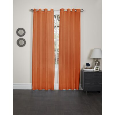 Holly Faux Silk Single Curtain Panel Product Photo