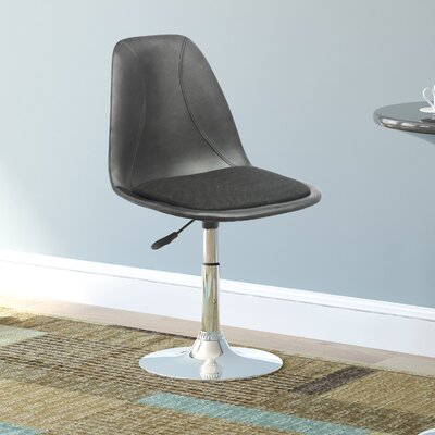 Adjustable Height Swivel Bar Stool with Cushion by CorLiving