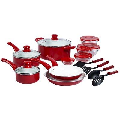Aluminum 17 Piece Cookware Set by Basic Essentials