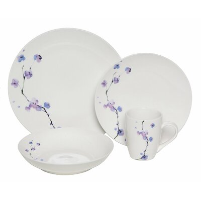 Premium Zen Dinnerware 16 Piece Place Setting by Melange