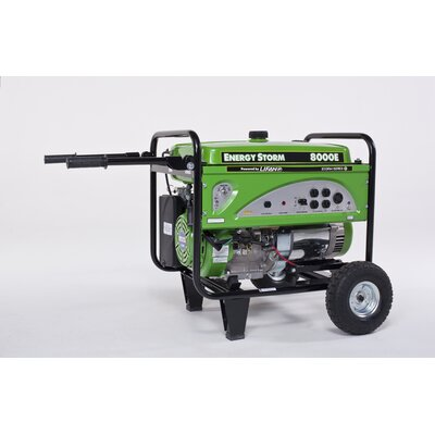 Energy Storm 8,000 Watt Gasoline Generator with Recoil/Electric Start by Lifan Power