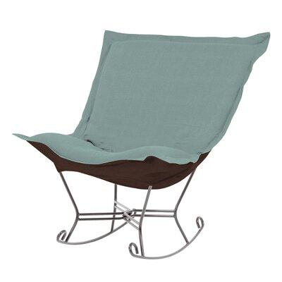 Puff Scroll Sterling Rocking Chair by Howard Elliott