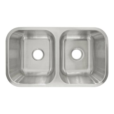 "31.5"" x 18.13"" Undermount Double Basin Kitchen Sink Product Photo"