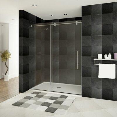 """Ultra-D 79"""" x 60"""" Sliding High Glass Shower Door Product Photo"""