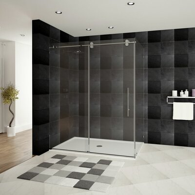 "Ultra-D 48"" x 36"" x 79"" Sliding High Glass Shower Enclosure Product Photo"