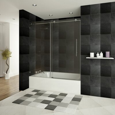 "Ultra-D 72"" x 36"" x 79"" Sliding High Glass Shower Enclosure with Double Front Panel Product Photo"