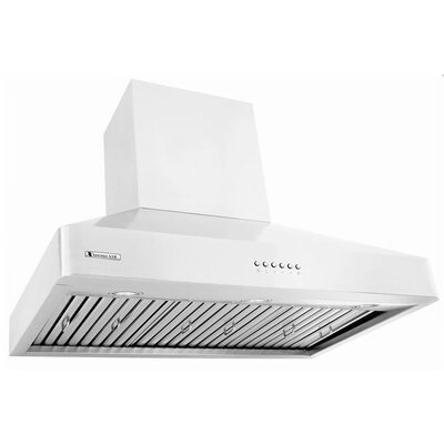 """Pro-X 48"""" 900 CFM Ducted Island Range Hood in Brushed Product Photo"""