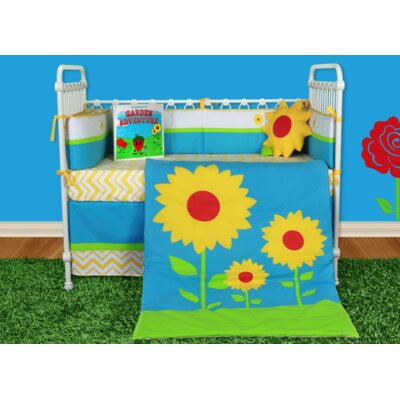 Sunflower Love 6 Piece Crib Bedding Set with Storybook by Snuggleberry Baby