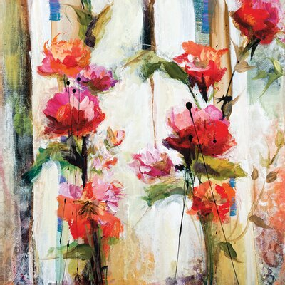 Climbing Vine by Karen Hale Painting Print on Wrapped Canvas by Portfolio Canvas