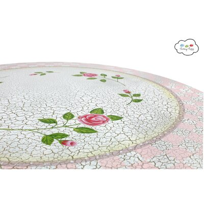 Fantasy Fields Crackled Rose Table