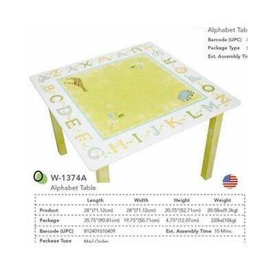 Fantasy Fields Alphabet Kid's Writing Table