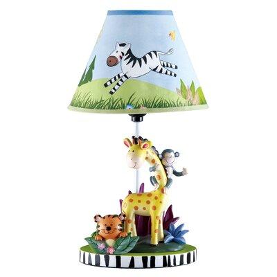 "Fantasy Fields Sunny Safari 15.5"" H Table Lamp with Empire Shade"