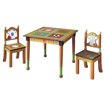 Fantasy Fields Kids 3 Piece Rectangular Table & Chair Set