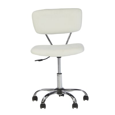 Zipcode Design Adjustable Mid Back Sleek White fice Chair