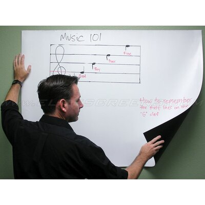 Elite Screens Insta-DE Series, 84-inch 4:3, Wall Covering Dry Erase Marker WhiteBoard Projection Screen