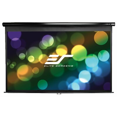 Elite Screens Elite Screens Manual, 150-inch 4:3, Pull Down Projection Manual Projector Screen with Auto Lock, M150UWV2