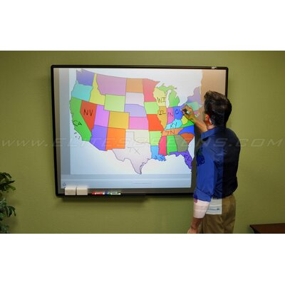 Elite Screens WhiteBoardScreen Series, 80-inch Diagonal 4:3, Ambient Light Rejecting Dry Erase Projection Screen