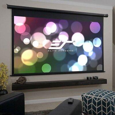 Elite Screens VMAX2 Series Motorized Matte White Electric Drop Down Projection Screen