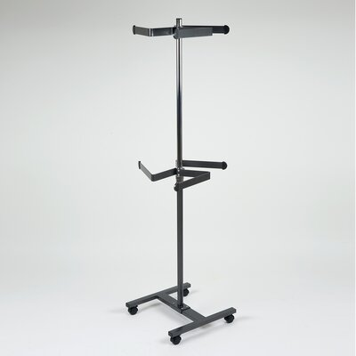 Luxury Heavy-Duty 2 Tier Spinning Rolling Garment Rack Product Photo